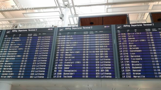 Flughafen Abflugtafel