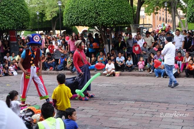 Queretaro Clowns Marktplatz