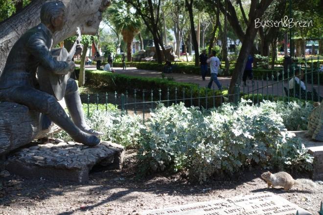 Queretaro Park tierische Besucher Statue