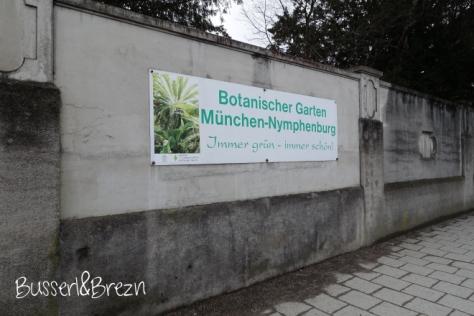 Botanischer Garten Schild