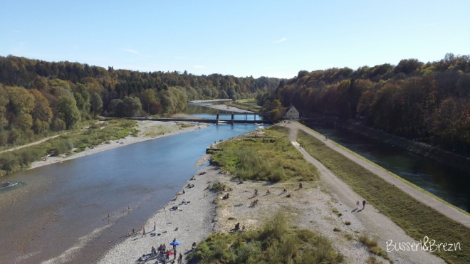 Ausblick von der Großhesseloher Brücke