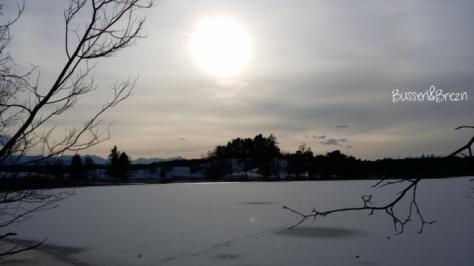 Ausflug Osterseen gefrorener See