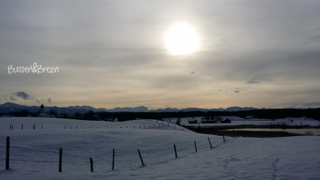 Ausflug Osterseen verschneite Landschaft