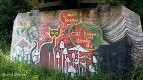 Graffiti auf dem Weg zur WaWi