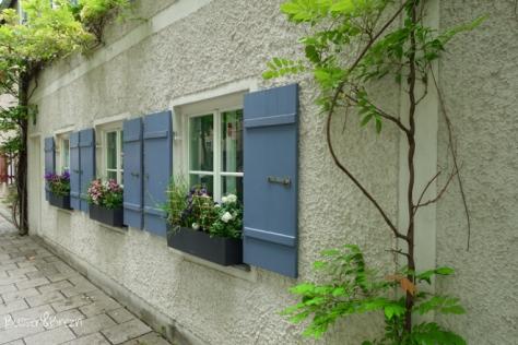 Preysingstraße Haus mit Blumen