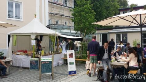 Slow Food Markt Innenhof