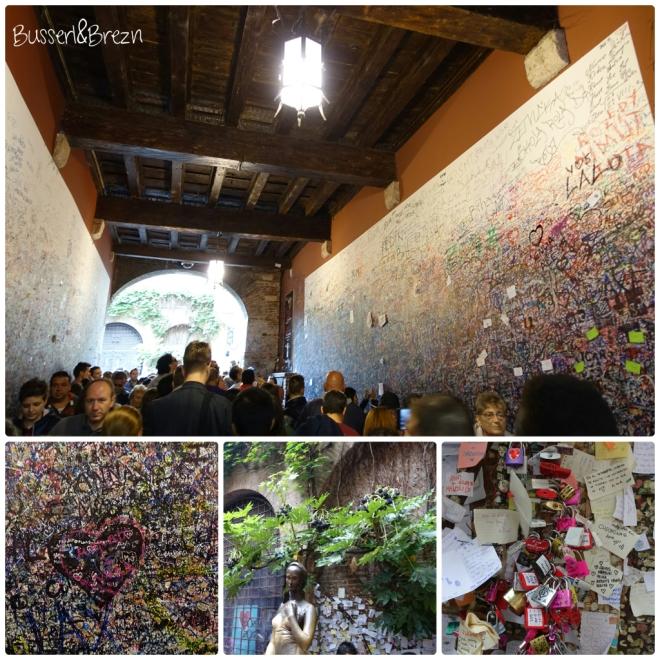Verona Durchgang zu Julias Balkon
