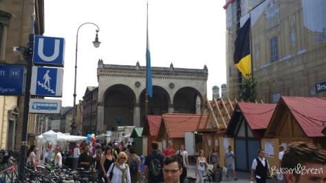 Stadtgründungsfest München Odeoonsplatz