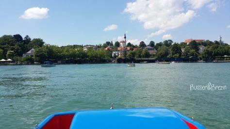 Tretbootfahren Ausblick auf Kirche 2
