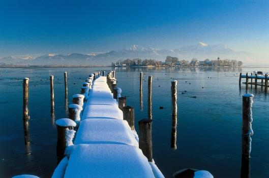 Steg Winter Fraueninsel