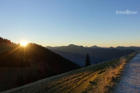 Wanderung Risserkogel_Abstieg_Sonnenuntergang